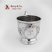Floral Repousse Cup Coin Silver Albert Coles 1850 SP to LPK