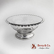 Imperial Candlewick Bowl Sterling Silver Base 1935 - 1945
