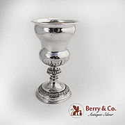 Sterling Goblet Embossed Foliate Border 1900