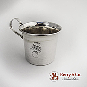 Baby Cup Sterling Silver Monogram S 1950s