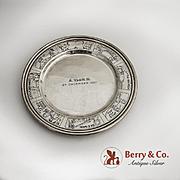 Nursery Rhyme baby plate Sterling Silver 1930
