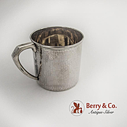 Hammered Baby Cup Japanese 950 Sterling Silver 1930