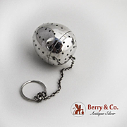 Egg Form Tea Ball Sterling Silver Gorham Silversmiths 1920