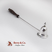 Candle Snuffer Sterling Silver Wooden Handle S Kirk and Son 1940