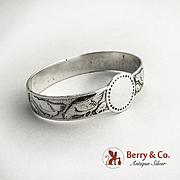 Vintage Figural Chicken Napkin Ring 830 Silver Norway 1930