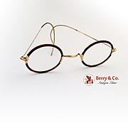 Vintage Glasses Gold Filled and faux Tortoise Frames 1920