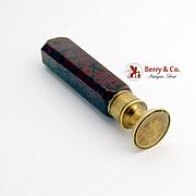 Vintage Wax Seal Stamp Celluloide Handle Brass 1900 No Monogram