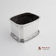 Rectangular Salt Cellar Dish Sterling Silver Birmingham 1933