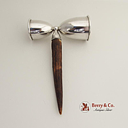 Double Jigger Sterling Silver Antler John Hassel Bring NY 1940