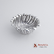 Open Salt Dish Fluted Body Sterling Silver Whiting 1890