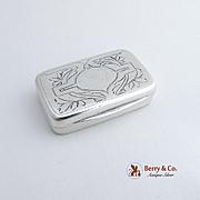 Antique Norwegian Rectangular Pill Box 830 Silver 1900