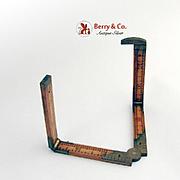 Antique Lufkin Sliding Boxwood & Brass Rule Ruler Gauge 1900