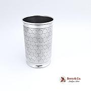 Vintage Beaker Snake Scale Skin Engraved Design 900 Silver