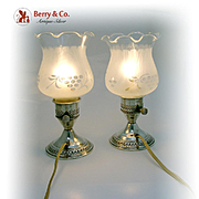 Vintage Lamps Sterling Silver Bases Crest Silver Co