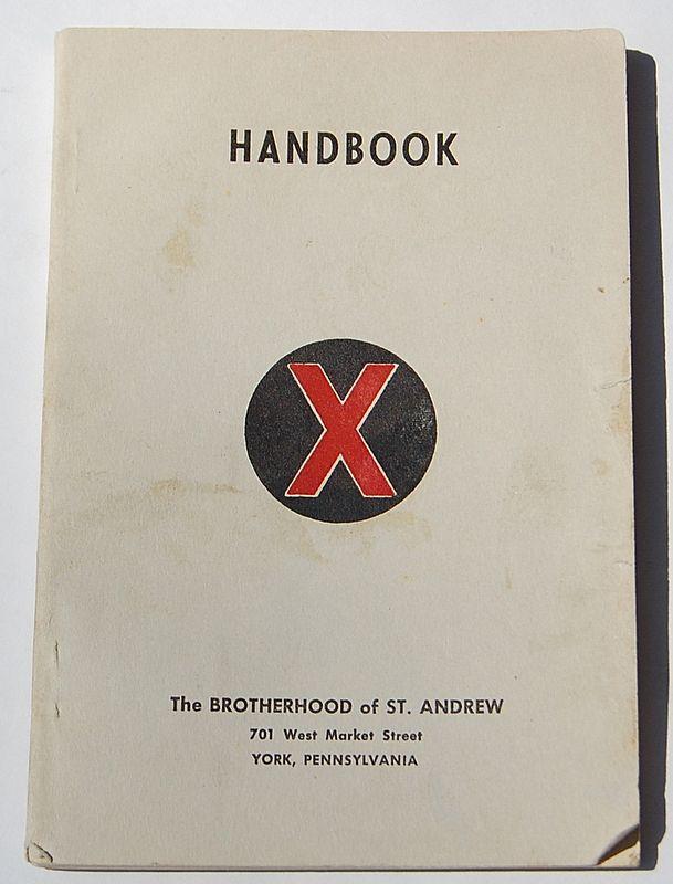 1952 The Brotherhood Of St. Andrew Handbook