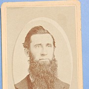 Antique Cabinet Card Photo Man With Long Beard