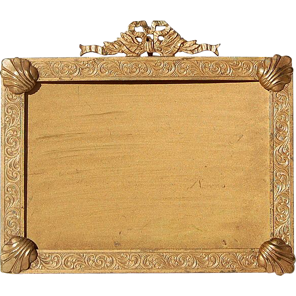 Antique Solid Brass 19th Century French Photo Frame