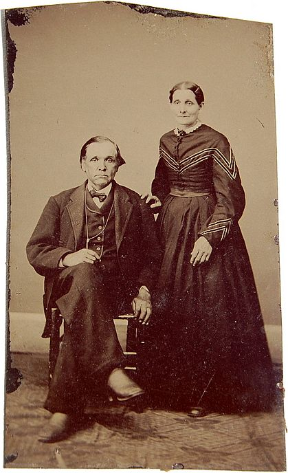"Victorian Tintype ""Smiling Couple"""