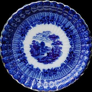"REDUCED Wonderful 9"" Flo Blue Scalloped Edge Plate"