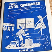 "1954 Sheet Music ""The Little Shoemaker"""