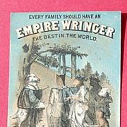 Vintage Trade Card Empire Wringer Co.-The Wedding