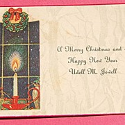 Art Deco Christmas Card