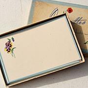 Fleurettes Vintage Correspondence Floral Motif Cards M-103