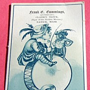 Victorian Advertising Card Frank G. Cummings Apothecary