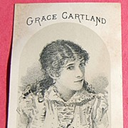 Victorian Advertising Card Grace Cartland as Blanche Redmond in Constable Hook