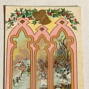 Vintage A Happy Christmas Postcard