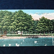 REDUCED Lagoon In Highland Park Meridian Mississippi Postcard