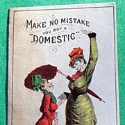 SALE 1880's Domestic Sewing Machine Co. Trade Card