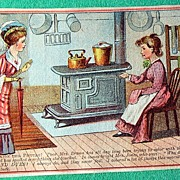 SALE Antique Diamond Dyes Trade Card