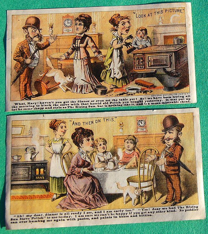 Rising Sun Stove Polish Victorian Trade Card