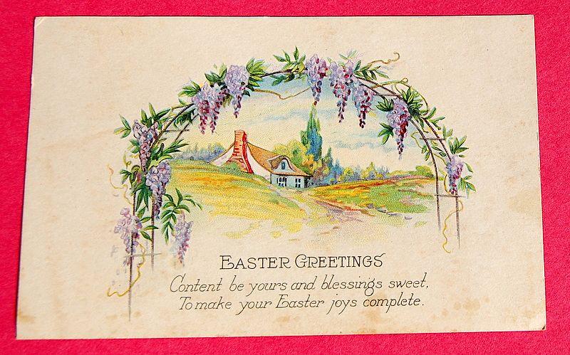 Art Deco Vintage Easter Post Card