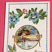 Vintage Best Birthday Wishes Embossed Post Card #533