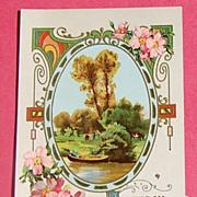 Vintage Embossed Birthday Greetings Post Card