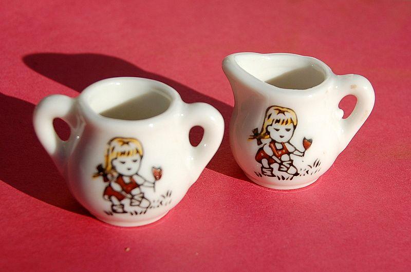 Made In Japan China Doll Cream & Sugar