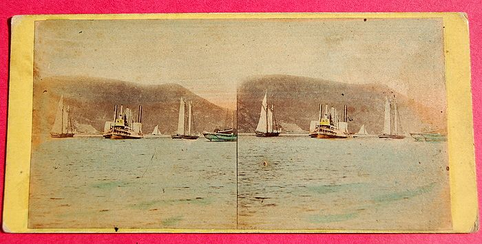 1865 Beauties Of The Hudson #4130 The Steamer Mary Powell Stereophotography Stereoview   Stereoview