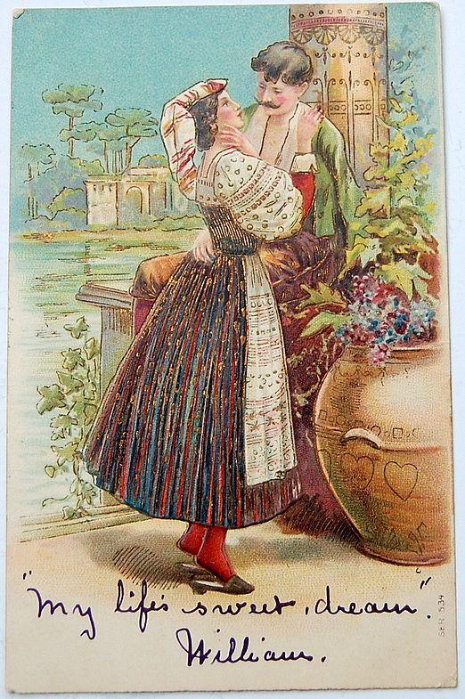 Vintage Romantic Post Card
