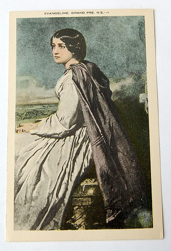 Vintage Longfellow's Evangeline, Grand Prs. N.S. Post Card