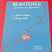 Vintage 1941 Sheet Music Bewitched Bothered And Bewildered