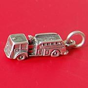 SALE Vintage Sterling Silver Fire Truck Charm