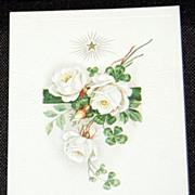 Vintage Embossed Birthday Greetings Postcard