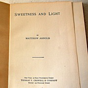 Sweetness And Light By Matthew Arnold