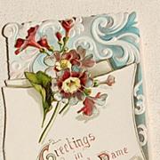 Wonderful Vintage Tuck Christmas Card Embossed
