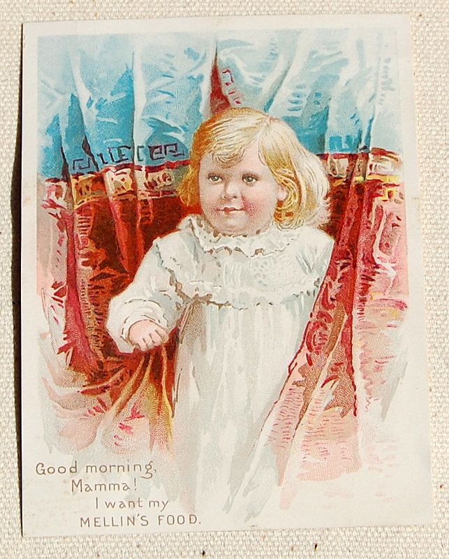 1892 Victorian Mellin's Food Trade Card