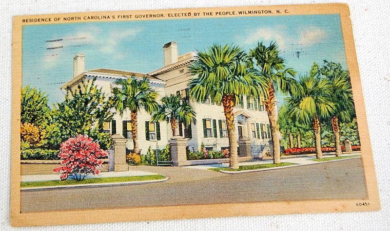 Vintage Postcard Residence Of North Carolina's First Governor