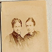 Victorian Cabinet Card Sisters Newburyport Mass