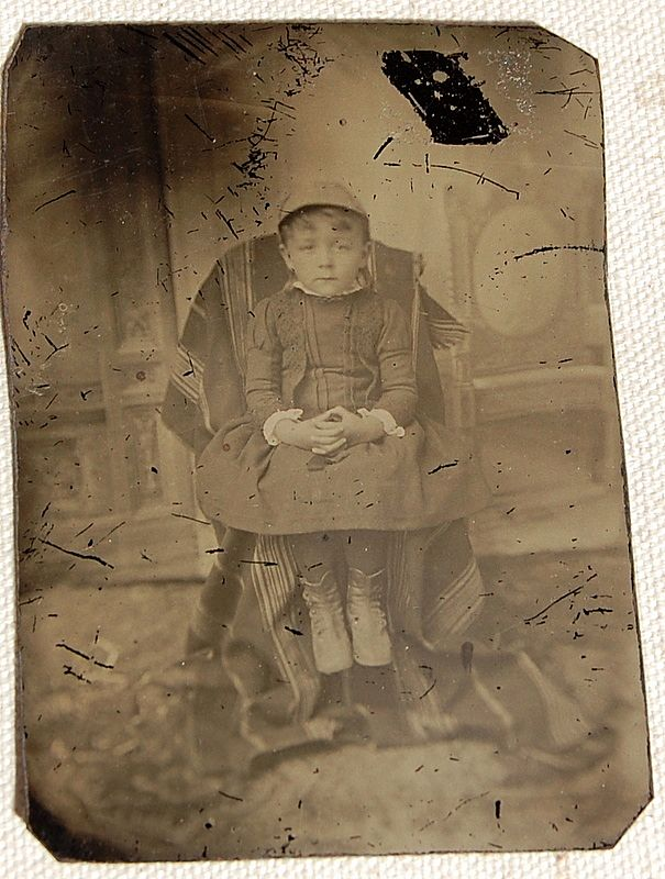 Victorian Tin Type Young Child